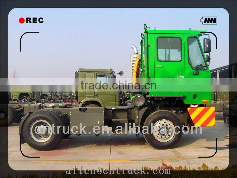 Sino truck heavy duty port tractor truck 4x2 trailer