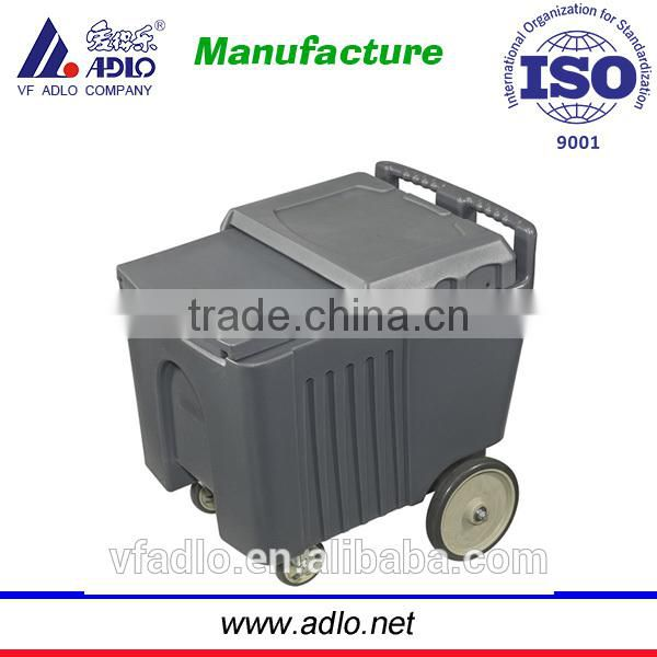 China factory ISO quality trolley big airtight plastic food container