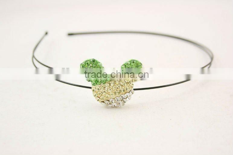 Children headband with with a stunning crystallized mickey kids hair accessory