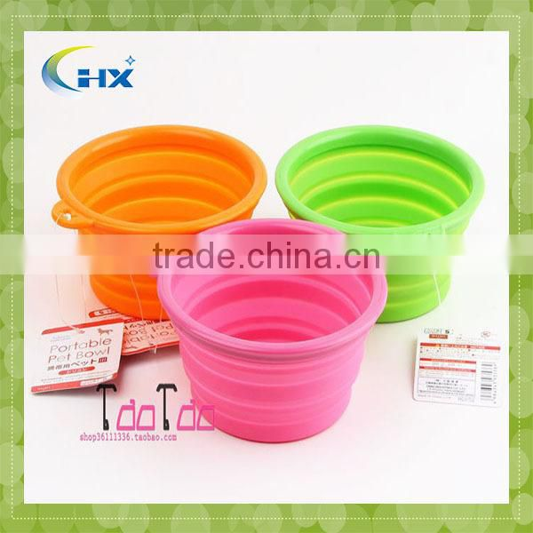 Heat Resistant Colourful Foldable Silicone Pet Bowl