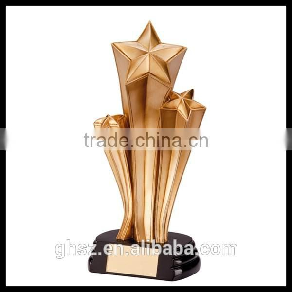 Custom 2016 new style sports souvenirs star shaped cheap metal trophy