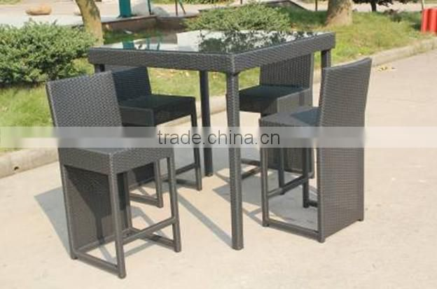 wholesale rattan bar table and chairs rattan high garden furniture