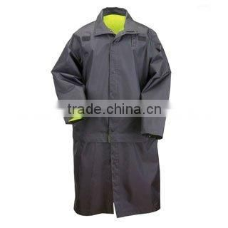 Long High Visibility Raincoat