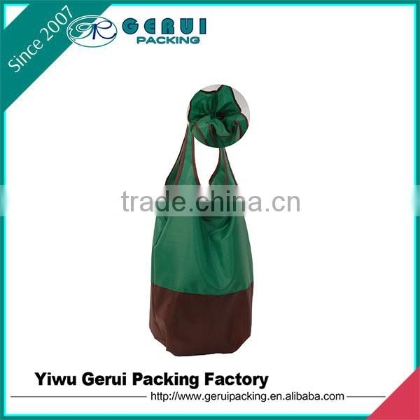 two combination colours fabric polyester drawstring bag