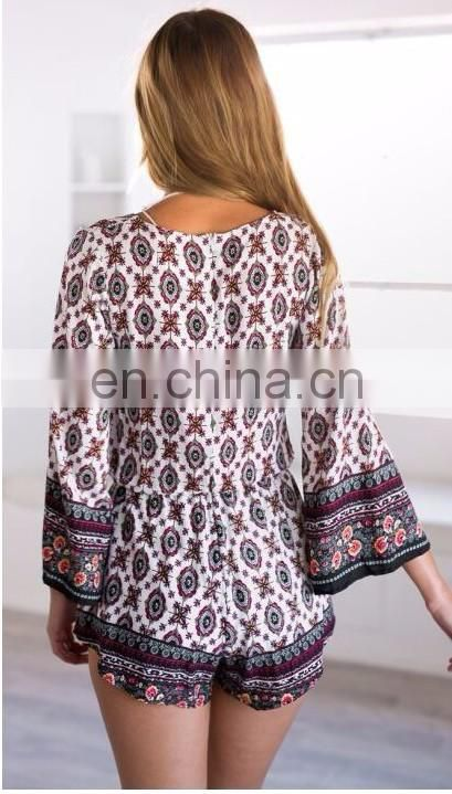 Hot sale V neck summer fashion women union suit in stock