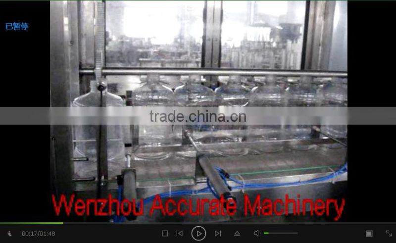 Automatic electric linear type mineral water bottling machinery for 5L bottles