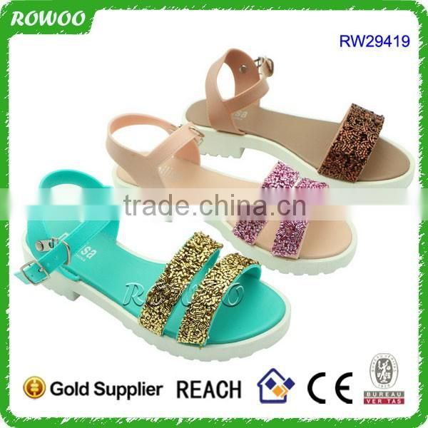 Creative New Summer Fashion PVC Sandals Flat Plastic Shoes With Hole