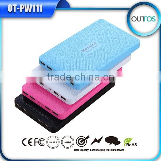 High quality mosaics power bank 16000mah for iphone ipad