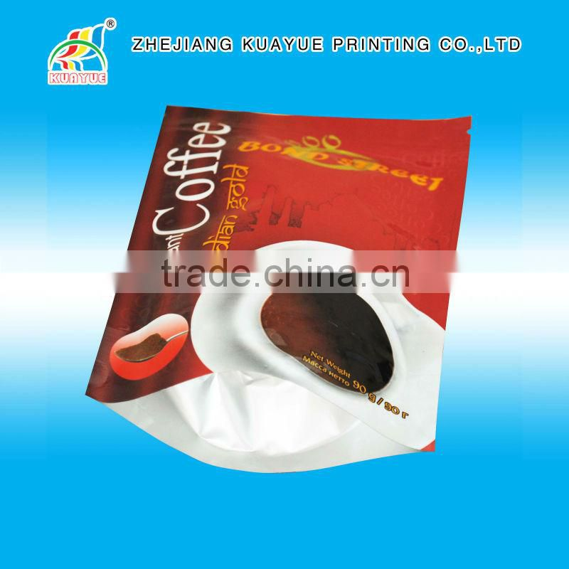 Customized High Quality Stand up Pouch with Valve, Stand up Coffee Bean Pouch