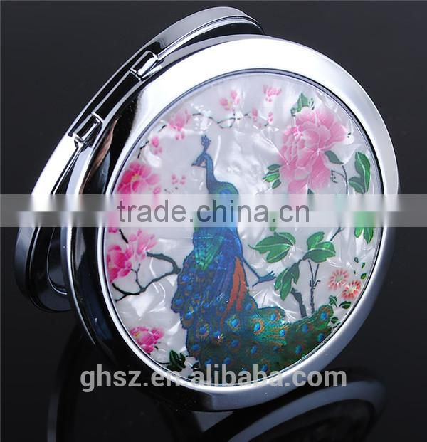 Guo hao hot sale custom make-up cosmetic pocket mirror , promotional sheet glass prices mirror
