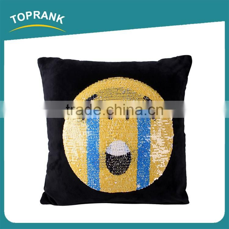 Toprank Fashion New DIY Emoji Mermaid Sequin Throw Pillow Color Changing Magic Mermaid Reversible Sequin Pillow