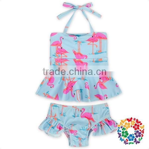 Ruffle halter top & underwear little girls swimwear models beachwear beach suit