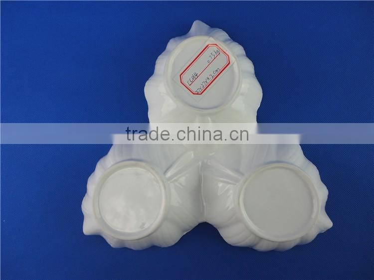 bulk ceramic plates leaf shape