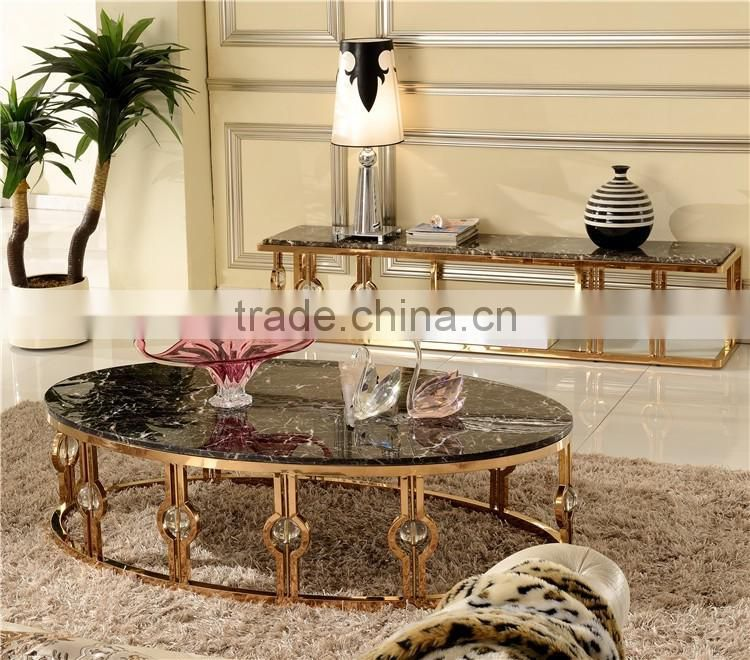 Modern round rose golden color hotel/living room furniture side/corner table B818-2G