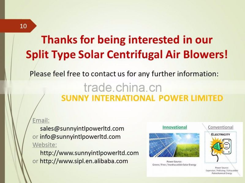 SUNNY 30 Watt 6 Inch with Battery Powered Centrifugal Ceiling Air Blower Solar Attic Air Ventilation Fan
