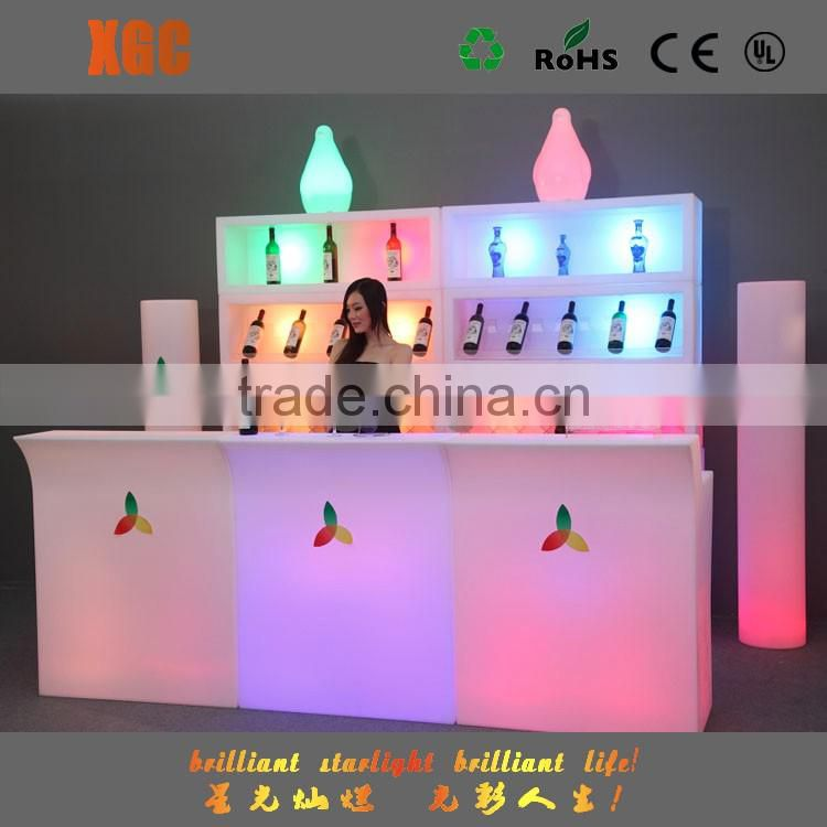 Commercial bar illuminated bar table,bar table straight GF308