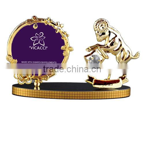 "Good Quality 24K gold plated Zodiac Aries 3x3"" Photo Frame"