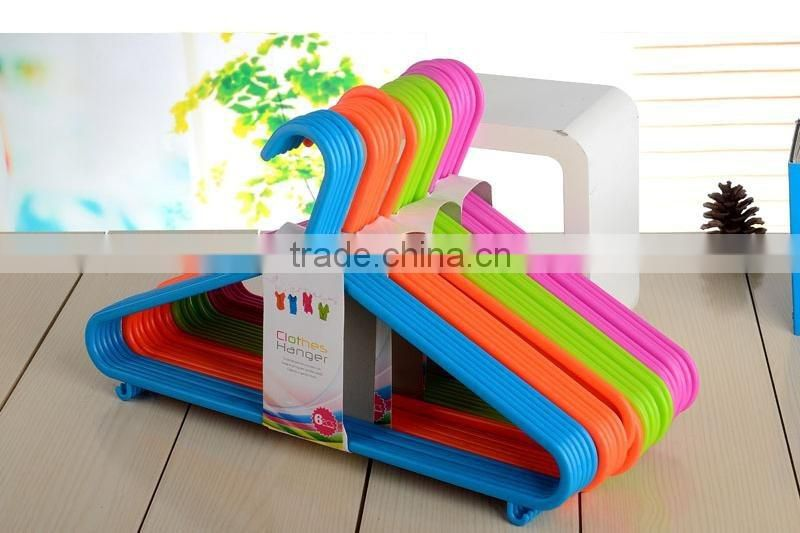 colorful plastic clothes hanger/pp cloth hanger