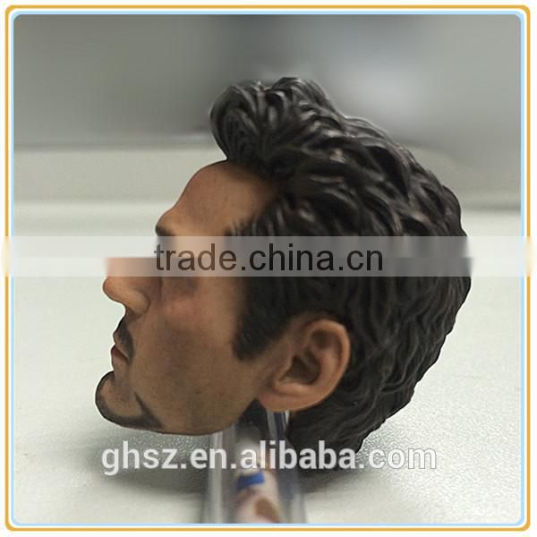 Guo hao hot sale kids toy craft , ironman tony stark resinic head figurine