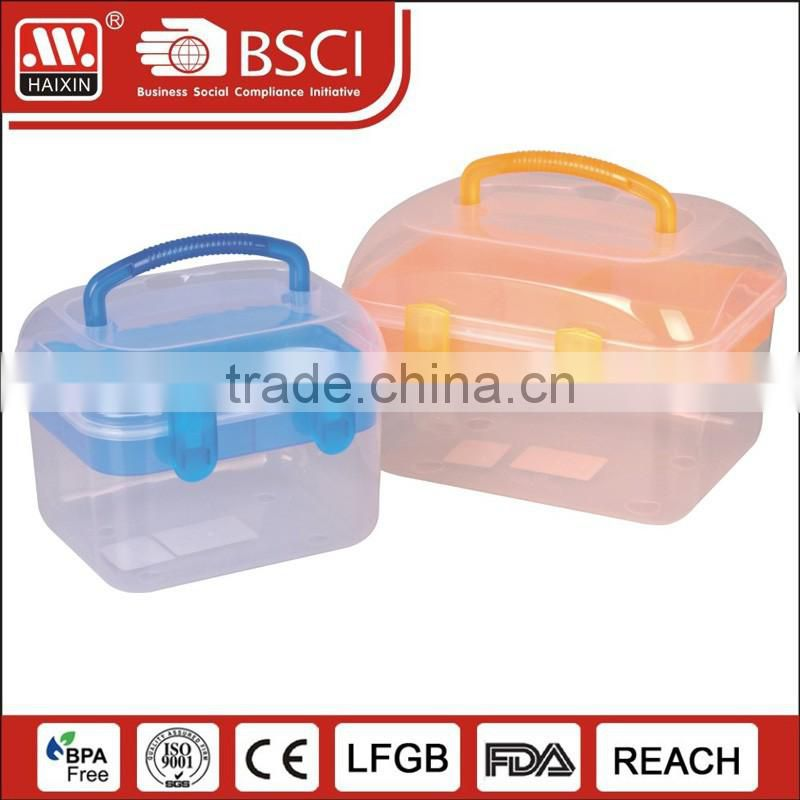 Plastic cosmetic storage containers