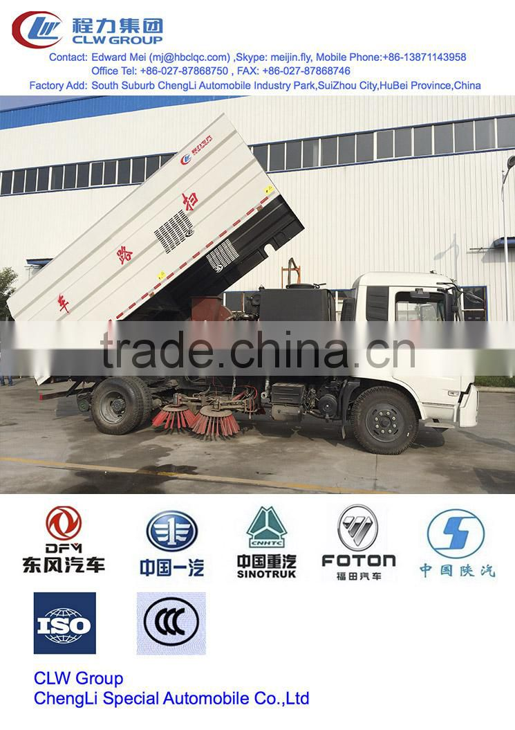 dongfeng rotary road sweeper 8 m3