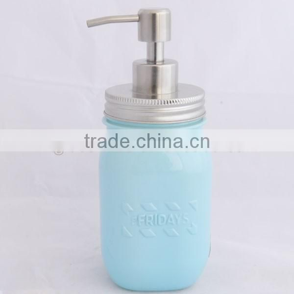 new design mason jar soap dispenser with stainless steel lid