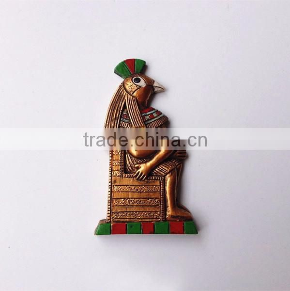 Custom egyptian god horus resin super strong fridge magnet