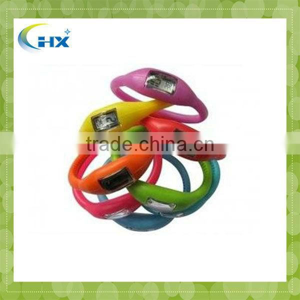 MA-723 2013 Hot Sell Glow in Dark Silicone Ion Pedometer
