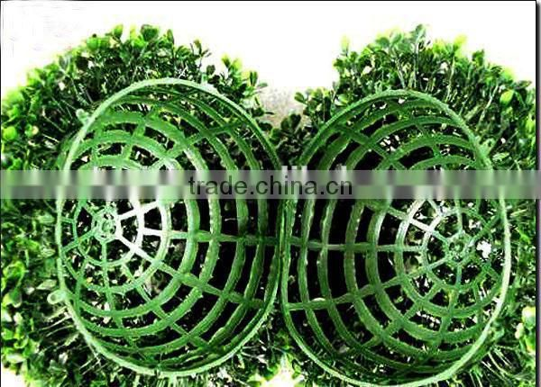 manufacture fake Grass ball Decorative wholesale artificial grass topiary