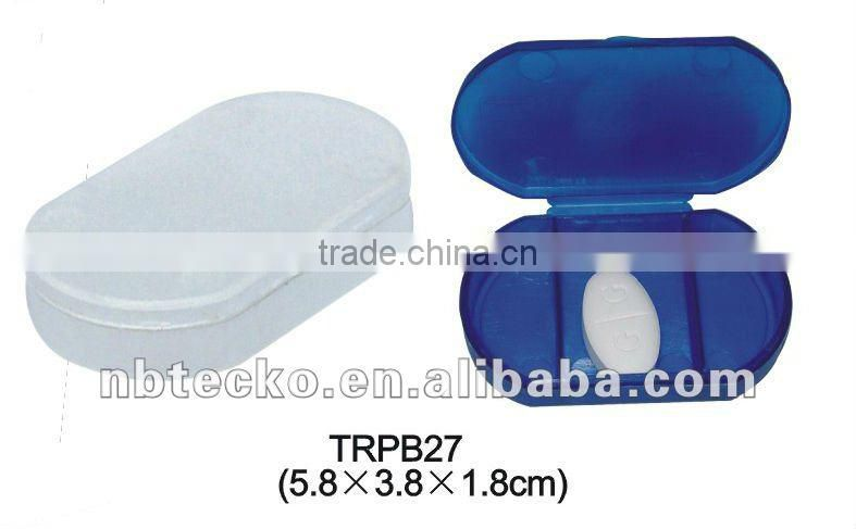 plastic pill box,medicine container with three tube