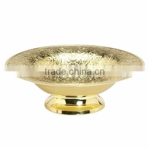 gold plated fancy shiny bowl