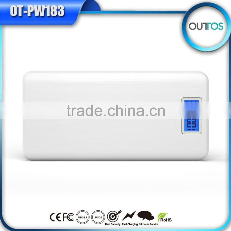 2015 New Portable Power Bank 16000 mah Portable Battery Charger with Dual USB