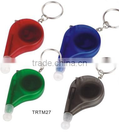Plastic measuring tape key chain with mini pen set