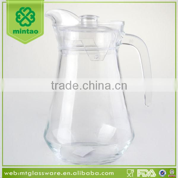 Machine made small water and fruit infusion pitcher with lid wholesale