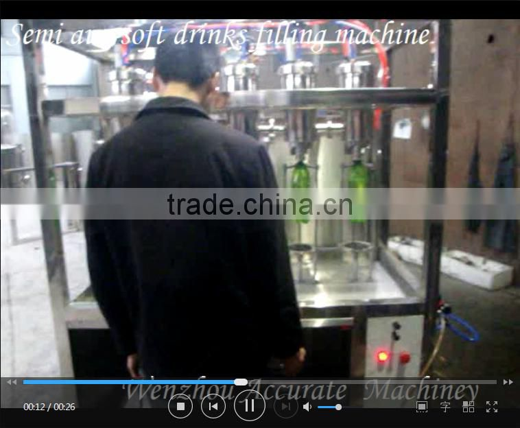 Semi automatic filling machine for cola soda co2 drink filling machine