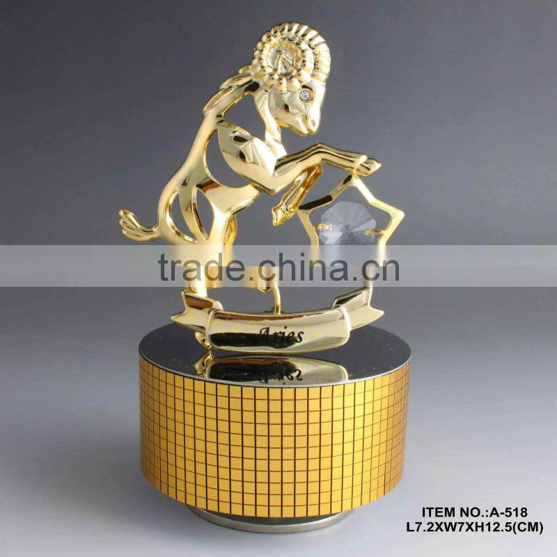 Hot Sale 24K gold plated Zodiac Sign Scorpio Musical Box for sale