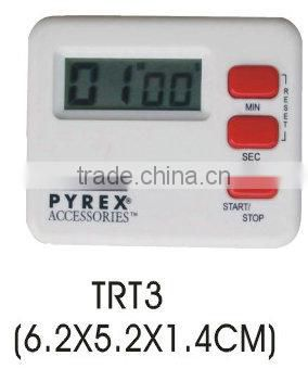 Plastic LCD digital countdown timer/electronic kitchen timer