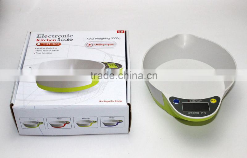 Bowl Shape digital kitchen scale electronic kitchen scale