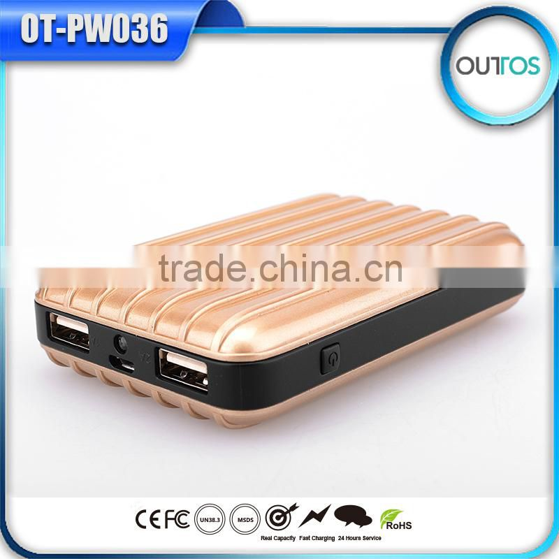 High capacity power bank 11200mah suitcase phone charger