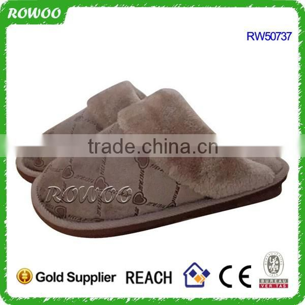 China custom super Soft plush men Slippers