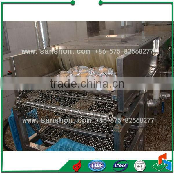 Sanshon Spray type Food Blanching Machine Packed Product Sterilizer