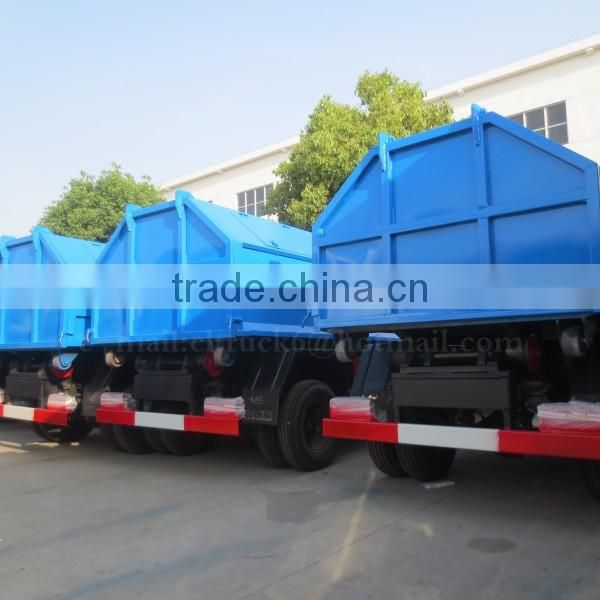 95 hp 4*2 DONGFENG Detachable Garbage Truck 4 m3