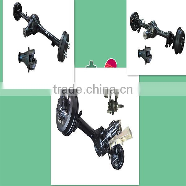 tricycle and atv parts rear axle with crown wheel and pinion gear