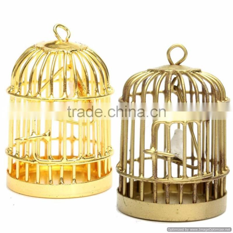 metal antique bird cage candle holder