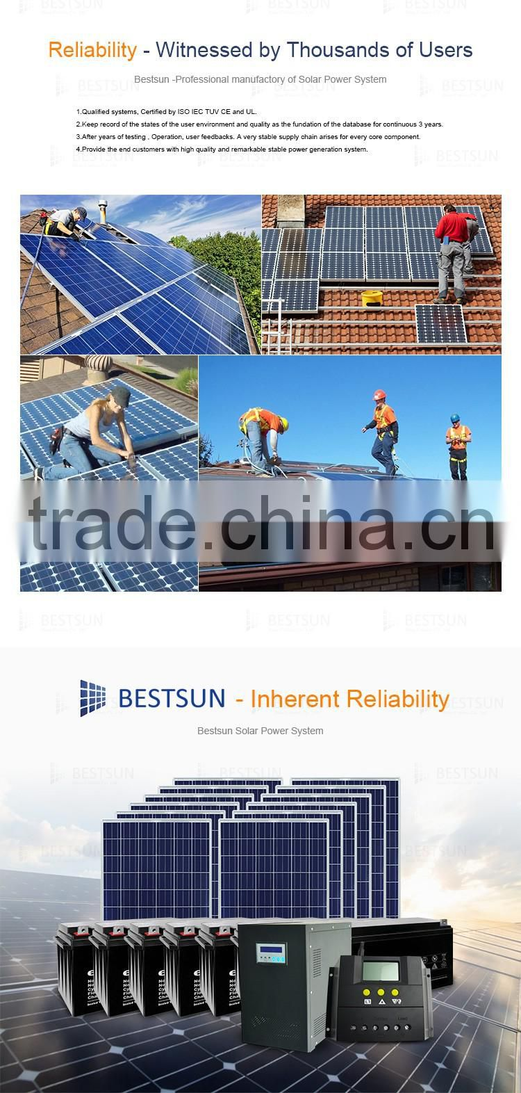 A.B.T.BUETSUN Factory directly sale poly solar power system 1000W home use