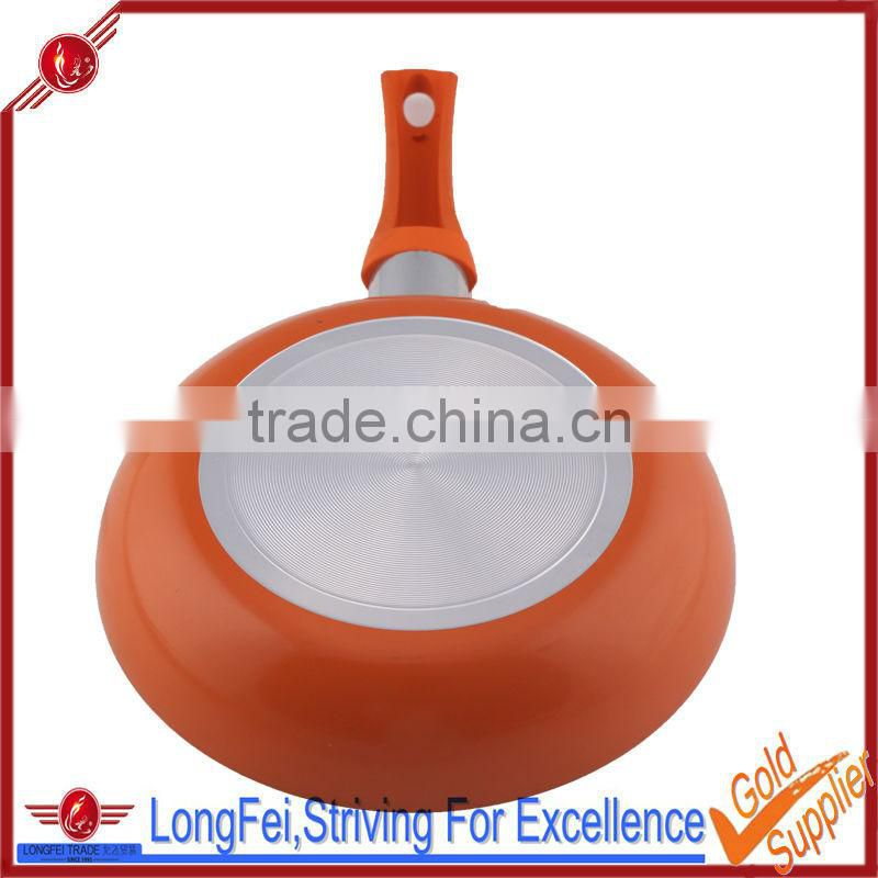 20CM orange color aluminum fry pan diamond coated non-stick frying pan
