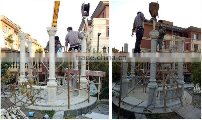 custom made garden marble gazebo with iron dome NTMG-285S