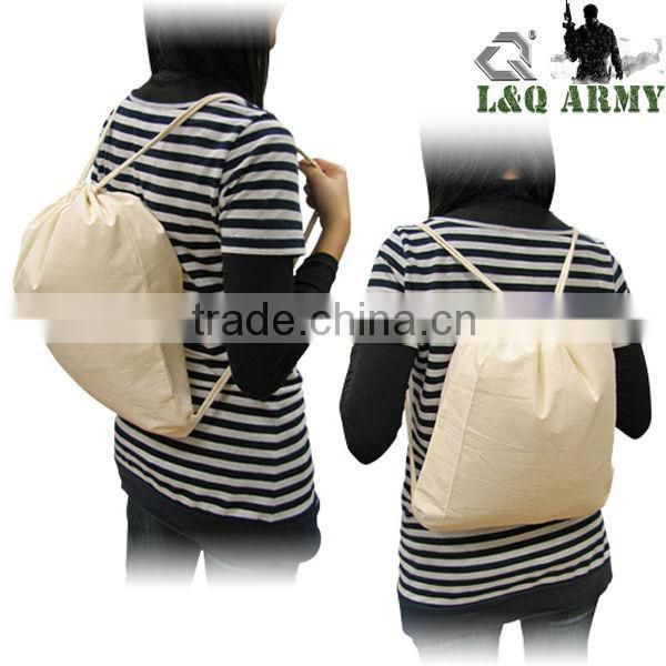 Cotton Sublimation Backpack Drawstring Backpack