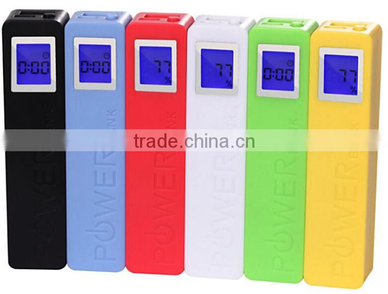 2200mah gift power banks with LCD light super fast mobile phone charger