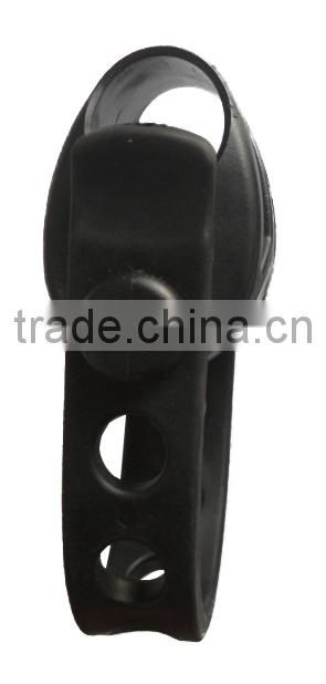 plastic buckle with rubber strap